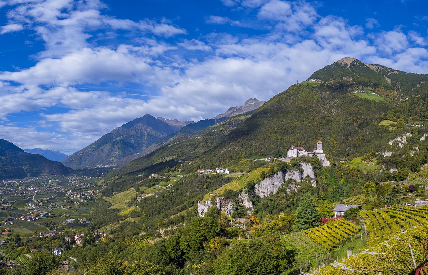 Panorama of Val Passiria, South Tyrol