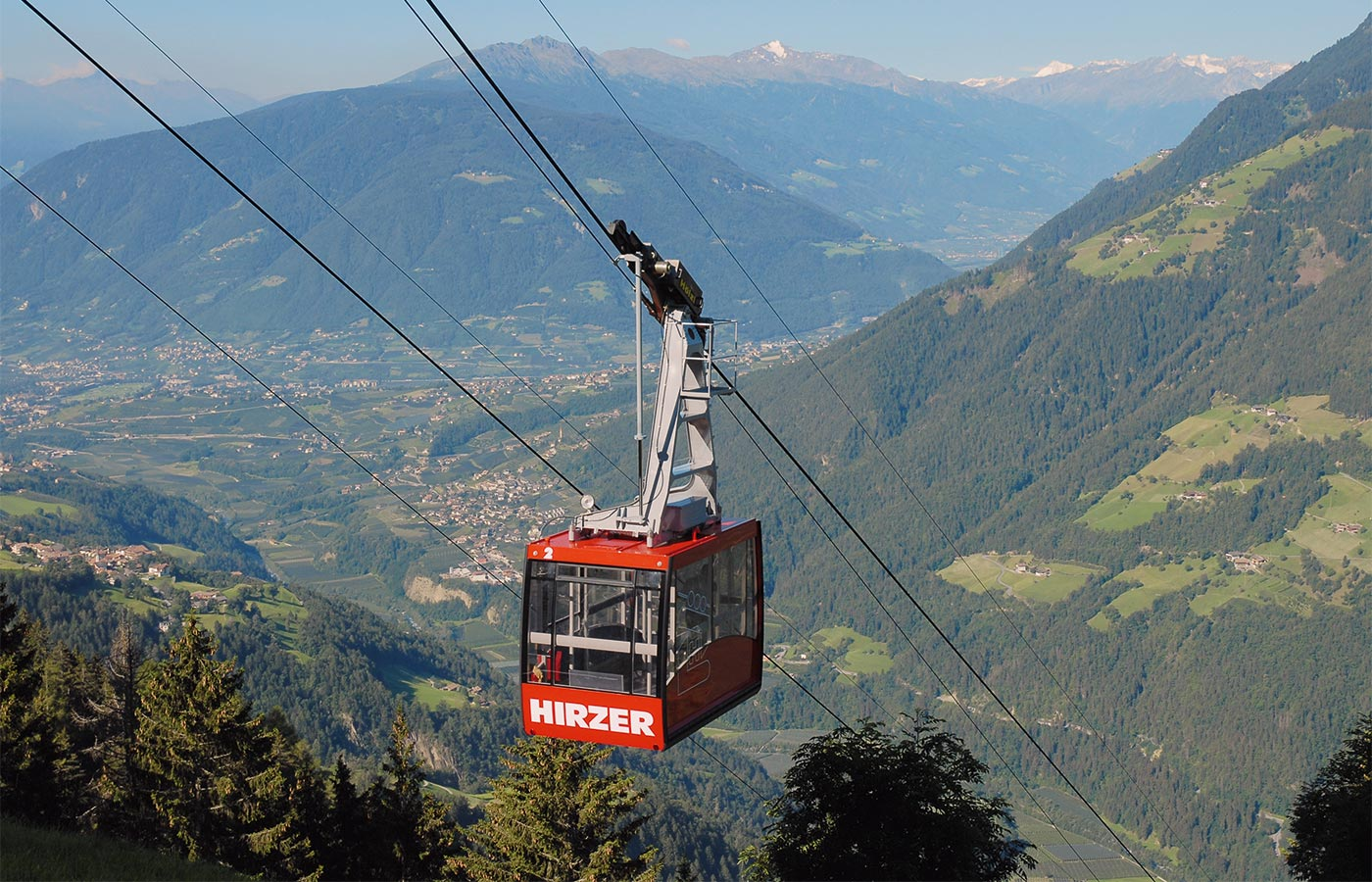Hirzer cable car at 1980mt altitude